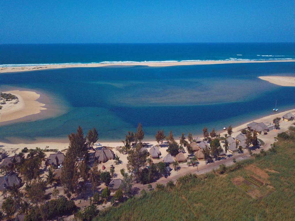 Paradise Beach Lodge Aerial.